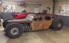 Rat rod with 8 lug truck axles and Boggers.