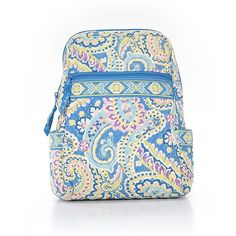 Pre-owned Vera Bradley Backpack: Blue Women's Accessories ($46) ❤ liked on Polyvore featuring bags, backpacks, blue, blue backpack, backpack bags, pre owned bags, daypack bag and vera bradley