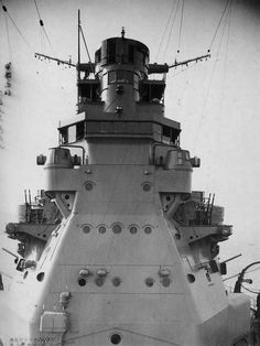 The superstructure of heavy cruiser Takao after upgrading 1939