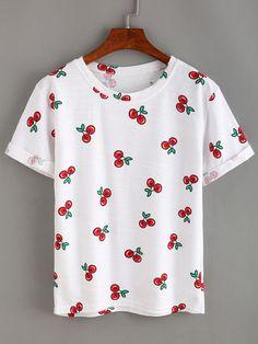 Allover Cherry Print T-shirt