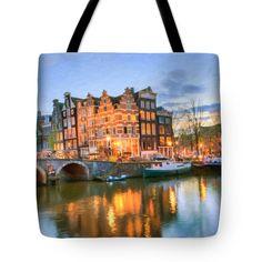 Tote Bags - Dreamy Amsterdam   Tote Bag by Nadia Sanowar