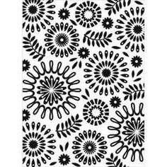 Darice  - Embossing Folder 4.25In.X5.75In. - Circle Floral