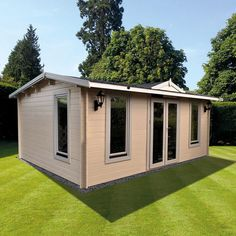 Think this would be perfect as my craft room/spare bedroom in our garden. New Pavilion from Johnsons Garden Buildings.