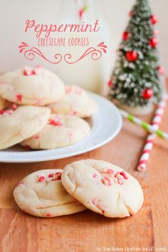 Peppermint Cheesecake Cookies - a sweet and festive holiday treat { lilluna.com }