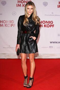 Sophia Thomalla attends Honig im Kopf premiere Lederkleid