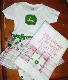 For future little country girls John Deere Nursery, John Deere Baby, Little Country Girls, Country Babies, Cute Baby Girl, Cute Babies, Future Baby, Future Daughter, Baby Kids Clothes