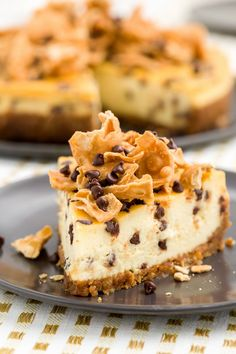 Cannoli Cheesecake and others - The 50 Most Delish Cheesecakes - Studded with mini chocolate chips and topped with pieces of waffle cones, this Italian-style cheesecake is insane. Get the recipe from Delish. Cannoli Cheesecake Recipe, Cheesecake Recipes, Dessert Recipes, Dessert Ideas, Homemade Cheesecake, Chocolate Cheesecake, Baking Recipes, Cheesecake Pie, Cake Ideas