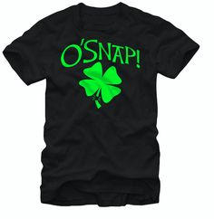 St. Patricks Day - O'Snap Clover T-Shirt