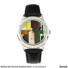 Modern Art Custom Stainless Steel Watch