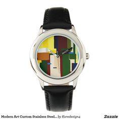 Modern Art Custom Stainless Steel Watch