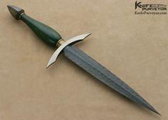 Bertie Rietveld Custom Knife Sole Authorship Verdite Dagger - Bertie Rietveld custom knife - image 1