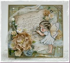 A Beautiful Shabby Chic Card made by Tab Robinson from Leicestershire, UK...