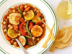 A medley of organic vegetables gives this wholesome stew loads of nutrients and a hearty broth. Chipotle peppers and flavorful Mexican seasonings add spice, while whole green beans and chunks of corn and squash make for a pleasing, colorful presentation.