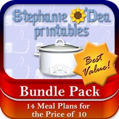 Bundle Pack, 14 Meal Plans for the Price of 10!