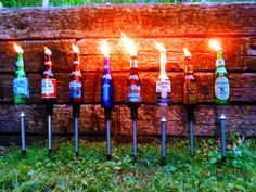6 Yard stakes-for Beer Bottle Tiki Torches Beer Bottles stakes DIY CRAFTS in Home & Garden, Yard, Garden & Outdoor Living, Outdoor Lighting | eBay