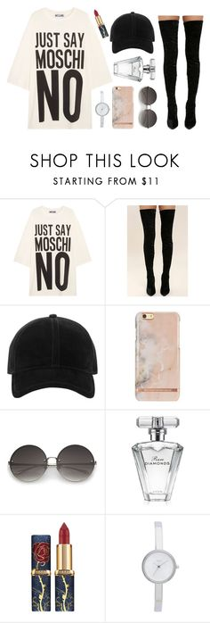"""""""Jus say no"""" by marvelfaith ❤ liked on Polyvore featuring Moschino, Cape Robbin, rag & bone, Avon and DKNY"""