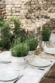 table in white and green