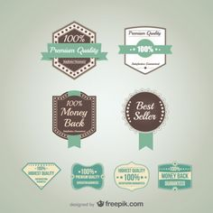 Vector promotional badges