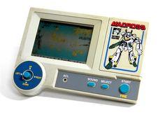 80s Retro Takatoku Toys LCD Handheld Game Macross Space Fight Made in Japan #TakatokuToys