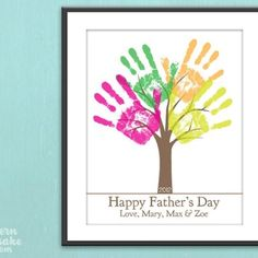 Father's day craft - handprint tree