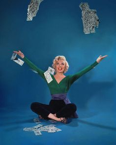"""...publicity shot for """"Gentlemen Prefer Blondes"""", 1953."""