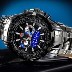 Tvg 579 Male Dual Time LED Watch Military Outdoor Sports Luminous Wristwatch  #Unbranded #Sport
