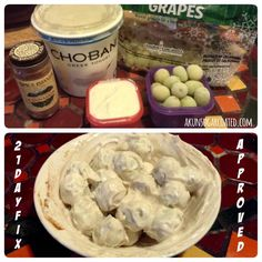 21 Day Fix Approved Snack: Greek Yogurt & Frozen Grapes - AK Un-Sugarcoated