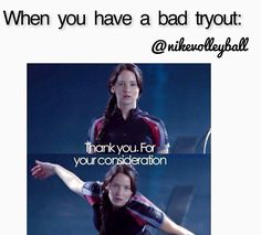 katniss/ the hunger games/ volleyball humor