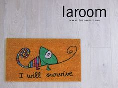 Productos diseñados por Laroom – Felpudo I will Survive