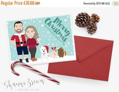 36 best greeting cards images on pinterest personalized greeting illustrated christmas card personalised greetings cards shauni brown designs want to make your cards m4hsunfo