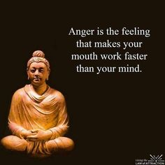 Anger is the feeling that makes your mouth work faster..