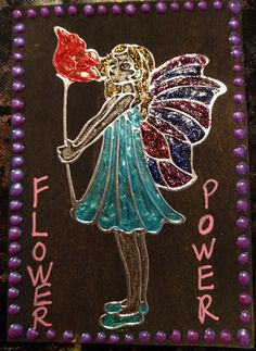 My second card, made November 2016 Flowery Fairy 2 of 3