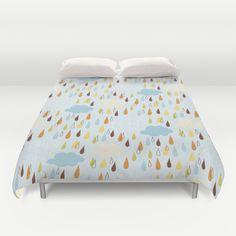 Colourful Rain Duvet Cover