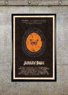 Jurassic Park 11x17 Movie Poster by adamrabalais on Etsy, $20.00