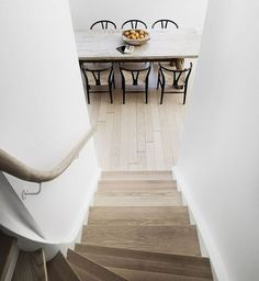 table and chairs from stairs