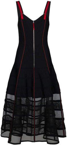 Alexander McQueen Silk Organza Skirt Dress