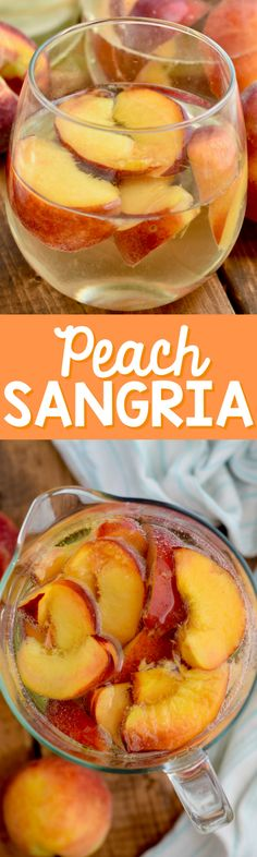 This Peach Sangria is super easy to throw together and something all of your party guests will love!