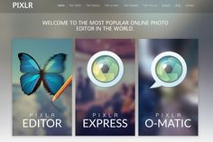 TOOL:  Pixlr - free online photo editor