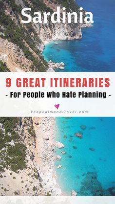 Are you planning your vacation to Sardinia but you hate planning, deciding which places to visit, what hotels or resorts to book, activities and things to do? Check out one of these 9 great itineraries to save you precious time and headaches! I'll tell yo Italy Travel Tips, Europe Travel Guide, Travel Destinations, Travel Guides, Hotels And Resorts, Best Hotels, Beach Resorts, Sardinia Holidays, Cheap Beach Vacations
