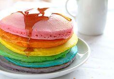 Tips for the Perfect Rainbow Pancake! #pancakes #rainbow