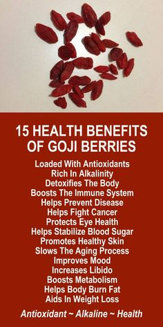 15 Health Benefits of Goji Berries. Are you trying to lose weight? Get our FREE healthy weight loss eBook with suggested fitness plan, food diary, and exercise tracker. Learn about Moringa's potent alkaline rich, antioxidant loaded, weight loss qualities that help your body boost metabolism, detox, cleanse, burn fat, and lose weight more efficiently. Look and feel your best every day! LEARN MORE #GojiBerries #Antioxidants #Alkaline #FatBurning #WeightLoss #MetabolismBoosting #Foods