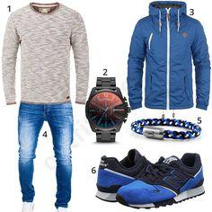 Blaues Herren-Outfit mit New Balance Schuhen U446 (m0599) #outfit #style #fashion #menswear #herren #männer #shirt #mode #styling #sneaker #menstyle #mensfashion #menswear #inspiration #shirt #cloth #clothing #ootd #herrenoutfit #männeroutfit