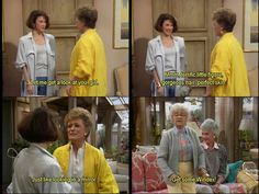 """Blanche: """"Let me get a good look at you, girl. Mmm…terrific little figure, gorgeous hair, perfect skin, just like looking in the mirror!""""Sophia: """"Get some Windex! Tv Quotes, Girl Quotes, Movie Quotes, Funny Quotes, Best Tv Shows, Best Shows Ever, Favorite Tv Shows, Favorite Things, Golden Girls Quotes"""