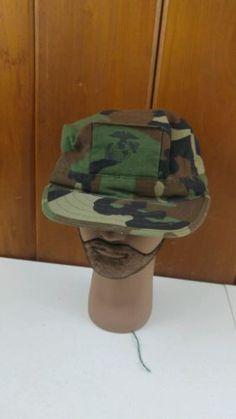 USGI ISSUE MILITARY US MARINE CORPS TYPE 1 UTILITY BDU CAP HAT WITH USMC LOGO