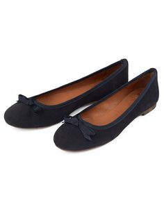 Women's Darcy Ballet Pump in Navy from Crew Clothing