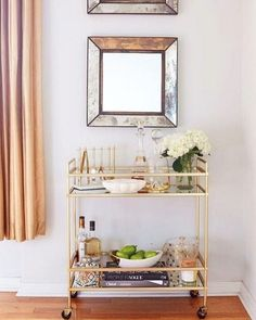 Mesmerizing Metallics - Must-See Bar Cart Eye Candy And Inspiration - Photos
