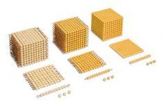 Goldkubus, 10 x 10 x 10 goldene Perlen - feste Perlen , Kunststoff