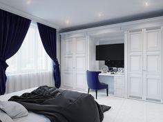 Спальня. Квартира 90 кв.м. в ЖК «Ласточкино гнездо»