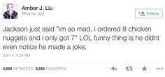 Amber tweeted about Jackson XD I GET IT HAHAHAHA