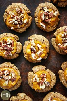 Clean Eating Gluten-Free Vegan Pumpkin Spice Thumbprint Cookies...vegan, gluten-free, dairy-free, grain-free, flourless, egg-free, paleo-friendly and contains no refined sugar | The Healthy Family and Home